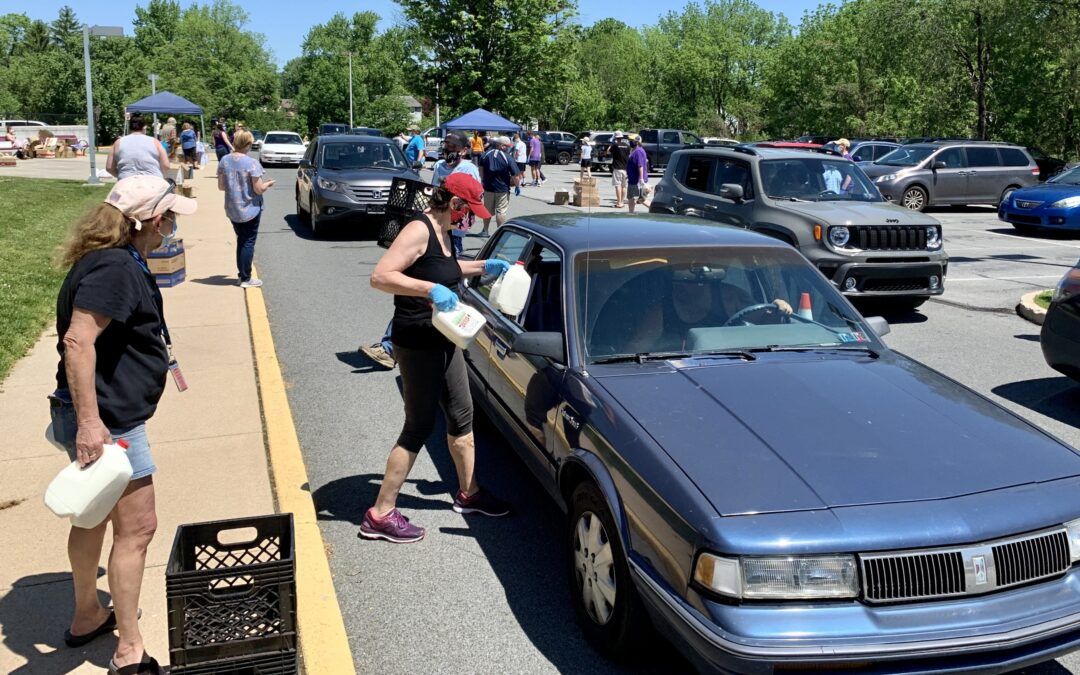 Community Leaders Give Bread, Milk, Produce to Families in Shillington